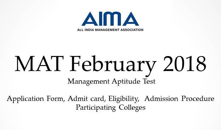 MAT FEBRUARY - Management Aptitude Test