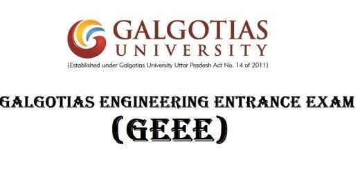 GEEE  - Galgotias University Entrance Examination