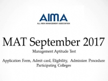 MAT September 2017: Application Form Date, Admit card, Eligibility, Cutoff, Result, Admission Procedure