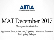 MAT December 2017 Exam Application Dates, Admit Card, Answer key/Result