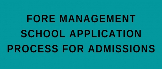 FORE Management School application process for admissions