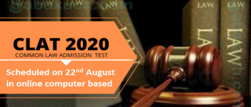 CLAT 2020: Scheduled to be conducted on 22nd August in online computer based