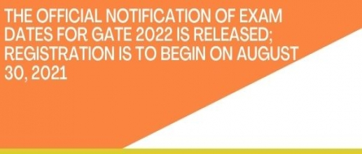 Exam Dates for GATE 2022 is Released