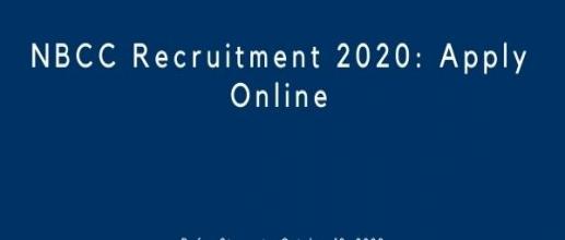 NBCC Recruitment 2020: Apply Online