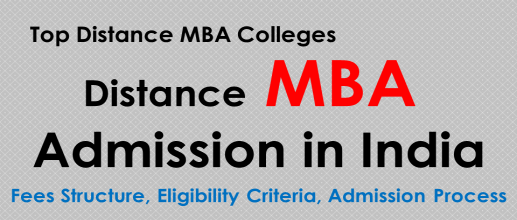 Distance MBA Admission in India