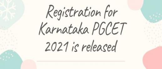 Registration for Karnataka PGCET 2021