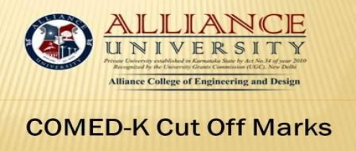 COMED-K Cut Off of Alliance Colleges of Engineering and Design, Bangalore