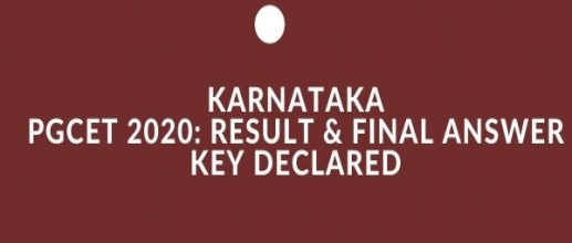 Karnataka PGCET 2020: Result & Final Answer Key Declared