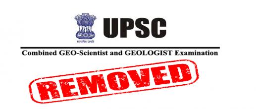 UPSC Geo-Scientist Exam 2021 Geologist, Geophysicist Posts Removed