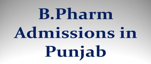 B.Pharm Admissions in Punjab