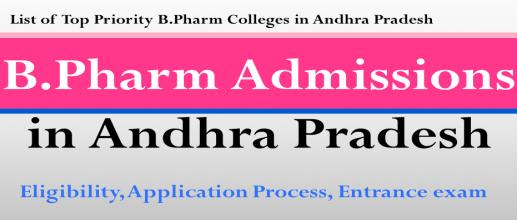 B.Pharm Admissions in Andhra Pradesh