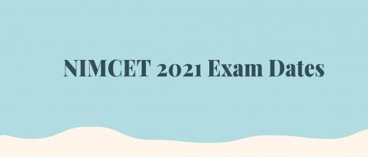 NIMCET 2021 Exam Dates