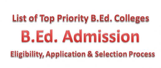 B.Ed. Admissions