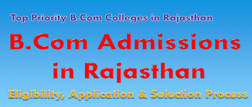 B.Com Admissions in Rajasthan