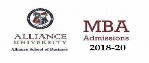 Alliance University MBA Admissions 2018: Applications started