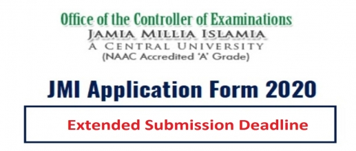 JMI Application Form 2020 Extended Submission Deadline till June 30