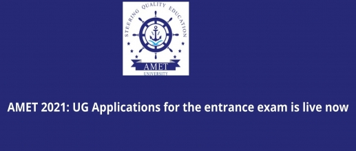 AMET 2021 Applications for the entrance exam is live now