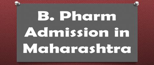 B. Pharm Admission in Maharashtra