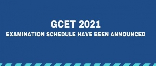 GCET 2021 Examination schedule have been announced