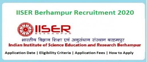 IISER Berhampur Recruitment 2020