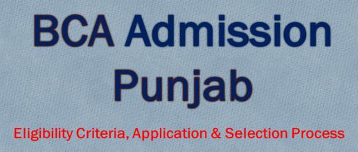BCA Admission in Punjab