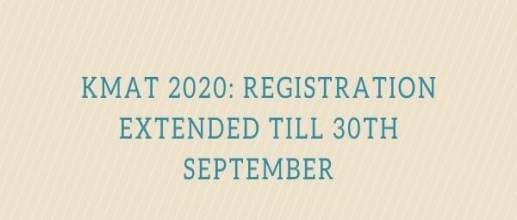 KMAT 2020: Registration Extended till 30th September