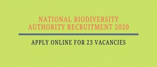 National Biodiversity Authority Recruitment 2020: Apply online for 23 vacancies