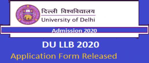 DU LLB 2020 Application Form Released