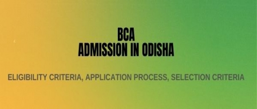 BCA Admission in Odisha