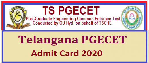 TS PGECET 2020 Admit Card will be available from 25th June
