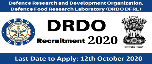 DRDO DFRL Recruitment 2020