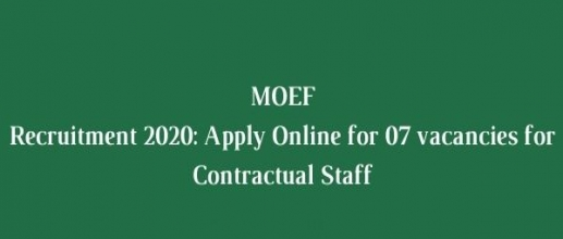 MOEF Recruitment 2020: Apply Online for 07 vacancies for Contractual Staff