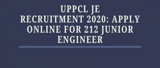 UPPCL JE Recruitment 2020: Apply Online for 212 Junior Engineer