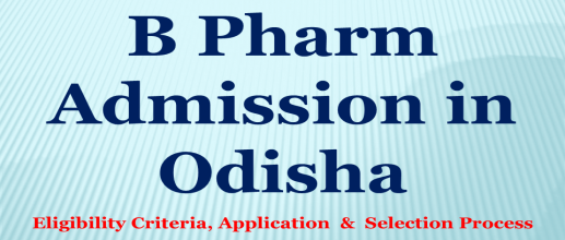 B Pharm Admission in Odisha