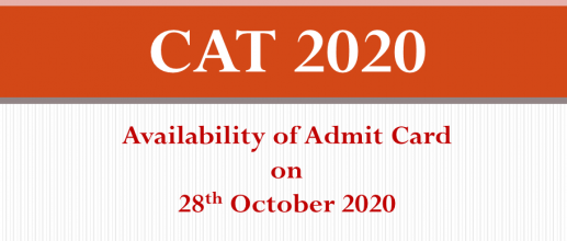 CAT 2020 Availability of Admit Card