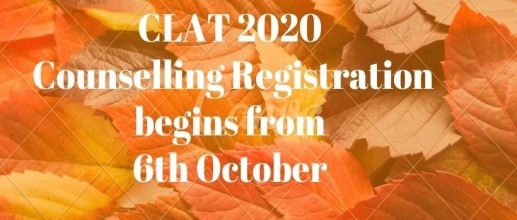 CLAT 2020 Counselling Registration begins from 6th October