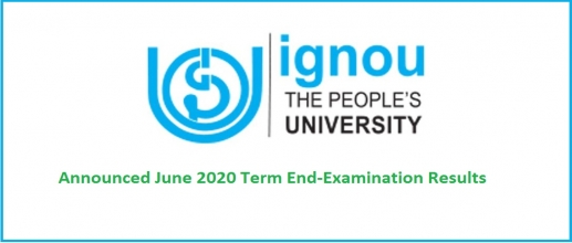 IGNOU June TEE 2020 Results Announced
