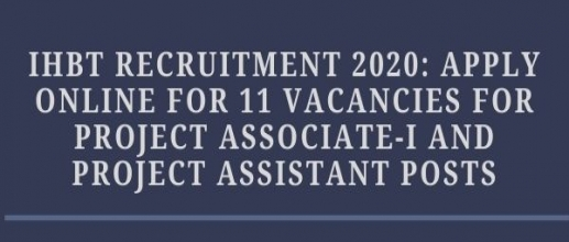 IHBT Recruitment 2020: Apply Online