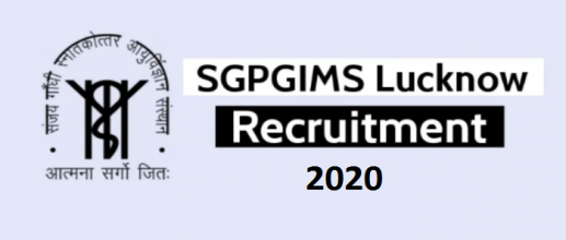 SGPGIMS Faculty Recruitment 2020