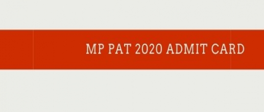 MP PAT 2020 Admit Card Released