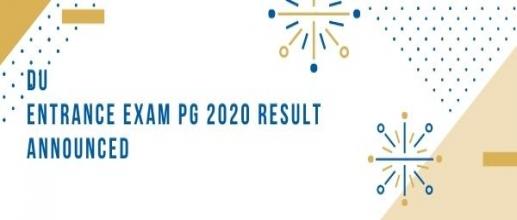 DU Entrance Exam PG 2020 Result Announced