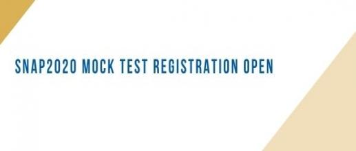 SNAP 2020 Mock Test Registration Open