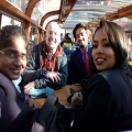 ISMS Students enjoying canal cruise in Europe