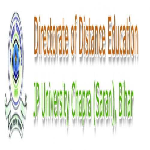 Directorate Of Distance Education Jai Prakash University - [Directorate Of Distance Education Jai Prakash University]